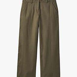 White Stuff Winona Wide Leg Trousers, Khaki | John Lewis UK