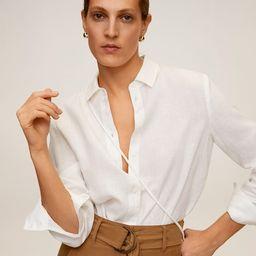 Linen 100% shirt | MANGO (UK)