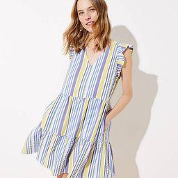 Striped Flutter Dress   LOFT   LOFT