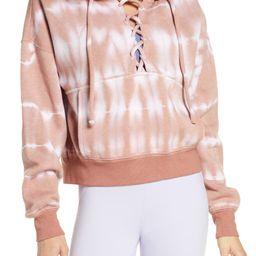 Tie Dye Believer Lace-Up Hoodie | Nordstrom