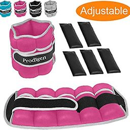 Prodigen Adjustable Ankle Weights Set for Men & Women Ankle Wrist Weight for Walking, Jogging, Gy... | Amazon (US)
