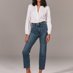 Ultra High Rise Ankle Straight Jeans   Abercrombie & Fitch (US)