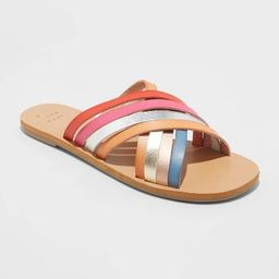 Women's Laila Crossband Strappy Slide Sandals - A New Day™ | Target