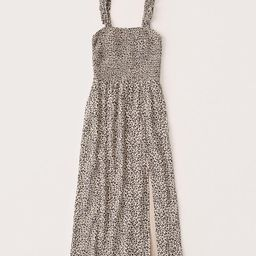 Smocked Midi Dress   Abercrombie & Fitch (US)