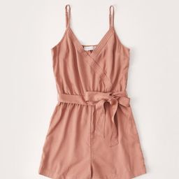 Tie-Front Romper   Abercrombie & Fitch (US)