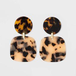 SUGARFIX by BaubleBar Marbled Drop Earrings - Blonde Tortoise, Women's, Yellow Green   Target