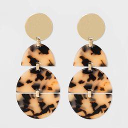 UGARFIX by BaubleBar Gold tud Rein Drop Earring - Blonde Tortoie   Target