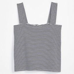 Striped Fitted Square Neck Outfit-Making Tank   LOFT   LOFT