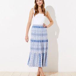 Paisley Tiered Midi Skirt   LOFT   LOFT
