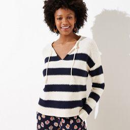 Striped Split Neck Sweater   LOFT   LOFT