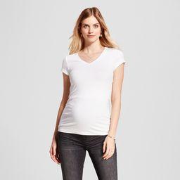 Maternity Short Sleeve V-Neck T-Shirt - Isabel Maternity by Ingrid & Isabel White XS, Women's | Target