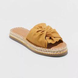 Women's Lila Knotted Espadrille Slide Sandals - Universal Thread™ | Target