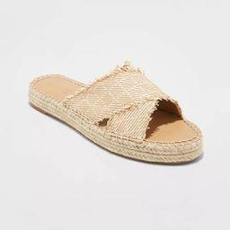 Women's Sonya Woven Cross-Band Slide Sandals - Universal Thread™ | Target