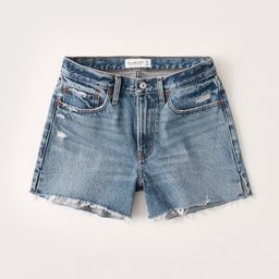 Mid Rise Boyfriend Shorts | Abercrombie & Fitch (US)