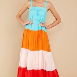 Looking Bright Orange Multi Maxi Dress   Red Dress