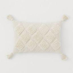 Tasselled cushion cover | H&M (UK, IE, MY, IN, SG, PH, TW, HK, KR)