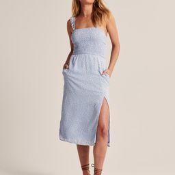 Smocked Midi Dress | Abercrombie & Fitch (US)