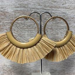 Raffia Earrings, Fan Earrings, Statement Earrings, Post Earrings | Etsy (US)