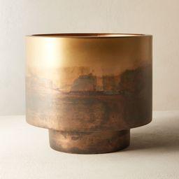 Sahara Brass Planter + Reviews   CB2   CB2
