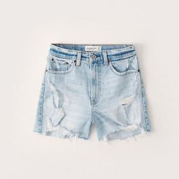 Curve Love High Rise 4 Inch Mom Shorts   Abercrombie & Fitch (US)