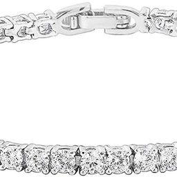 PAVOI 14K Gold Plated Cubic Zirconia Classic Tennis Bracelet | Gold Bracelets for Women | Size 6.... | Amazon (US)