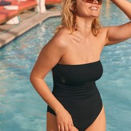 Aerie Ribbed Strapless One Piece Swimsuit   American Eagle Outfitters (US & CA)