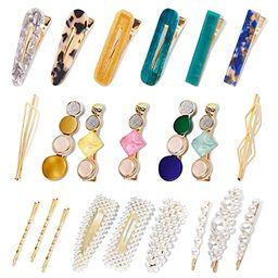 Allucho 22 Pack Pearl Hair Clips Fashion Hair Barrettes Sweet Artificial Macaron Acrylic Resin Ha...   Amazon (US)