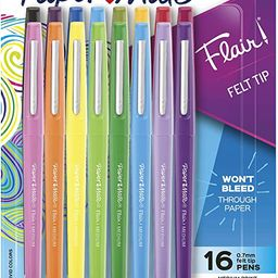 Paper Mate Flair Felt Tip Pens, (0.7mm), 16 Count   Amazon (US)