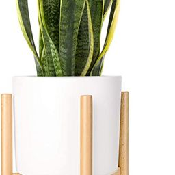 Mkono Plant Stand Mid Century Wood Flower Pot Holder (Pot Not Included) Display Potted Rack Rusti...   Amazon (US)