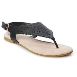 LC Lauren Conrad Women's Casual Sandals, Size: XL (11), Black | Kohl's
