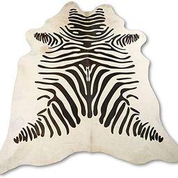Zerimar Kuhfell Teppich Gefärbt Zebra   Massnahmen: 215x175 cm   Teppich für Wohnzimmer   Schla...   Amazon (DE)