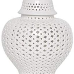 P.A.N. Traditional Chinese White Lattice Ginger Jar with Lid, Carthage Pierced Porcelain Lantern,...   Amazon (US)