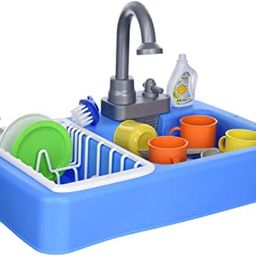 Kitchen Sink Play Set with Running Water – 20 Piece Pretend Play Toy for Boys and Girls   Kids ...   Amazon (US)