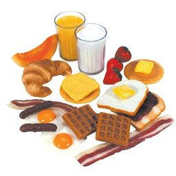 Kaplan Early Learning Life-size Pretend Play Breakfast Meal Set  - 22 Pcs   Target