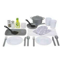 Melissa & Doug 22-Piece Play Kitchen Accessories Set - Utensils, Pot and Lid, Pans, Play Food   Target