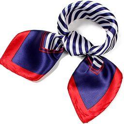 QBSM Womens 23.6 inch Satin Silk Feeling Formal Square Neck Scarf Head Hair Wraps   Amazon (US)