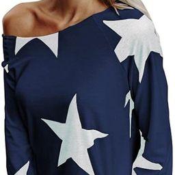 CUCUHAM Women Girl Strapless Star Sweatshirt Long Sleeve Crop Jumper Pullover Tops   Amazon (US)