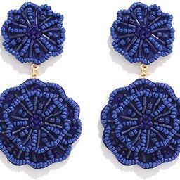 HSWE Statement Beaded Drop Earrings for Women Layered Bead Dangle Earrings   Amazon (US)