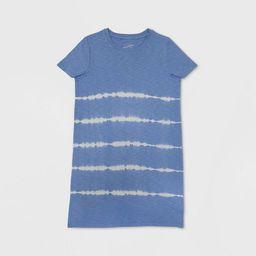 Women's Short Sleeve Tie-Dye T-Shirt Dress - Universal Thread™ Blue   Target