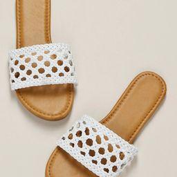 Interlock Braided Band Flat Slide Sandals | SHEIN