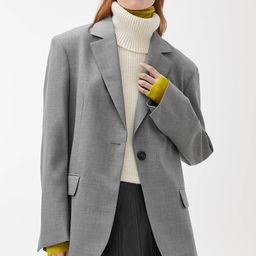Oversized Wool Hopsack Blazer | ARKET