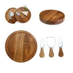 TOSCANA Acacia Brie Cheese Cutting Board & Tools Set   Walmart (US)