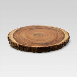 "15"" Acacia Wood Round Serving Platter Brown - Threshold™   Target"