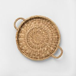 Woven Serve Tray with Handles - Hearth & Hand™ with Magnolia   Target