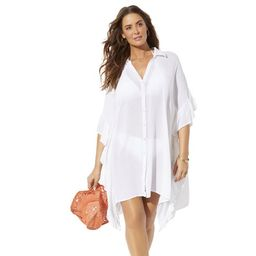 Swimsuits For All Women's Plus Size Sawyer Button Up Cover Up Shirt | Walmart (US)