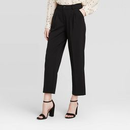 Women's Mid-Rise Straight Leg Pleated Front Trouser - A New Day™ | Target