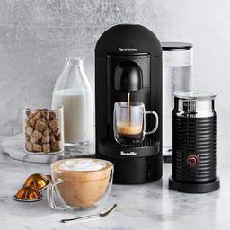 Nespresso VertuoPlus Matte Black Coffee Maker & Espresso Machine with Aeroccino by Breville | Williams-Sonoma