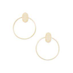 Mayra Gold Hoop Earrings in Iridescent Drusy | Kendra Scott