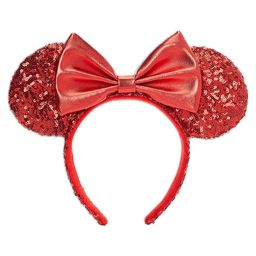 Minnie Mouse Sequined Ear Headband for Adults Red Official shopDisney | shopDisney