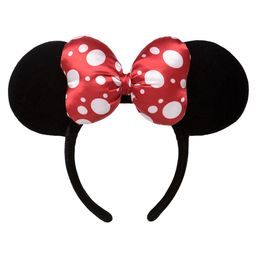 Minnie Mouse Satin Polka Dot Bow Ear Headband Official shopDisney | shopDisney
